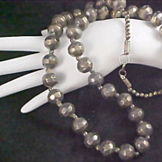REDUCED REDUCED~SILVER PLATE -  Long Sautoir Necklace