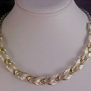 SALE Alluring Silver & Gold Plate Link Choker/Necklace
