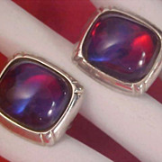 SALE DRAGONS BREATH Hickok Silver Plate Cuff Links