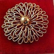 SALE Beautiful SWAN - Faux Marcasite - Gold & Silver Plate Figural Brooch