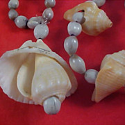 SALE Seashells & Genuine Seed Beads from the Holy Land Necklace
