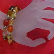 SALE Charming (2) Lucite Crystal Expandable Bracelets