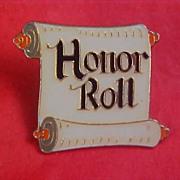 SALE Honor Roll  1989 Brooch/Tack Pin
