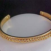 SALE Ultra Fabulous ~ 24KT Gold Electro Plated Ornate Bangle
