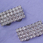 SALE Mid Century - Pave` Diamante MUSI Trademarked SHOE CLIPS - Pat. 3460211 - 1968-69
