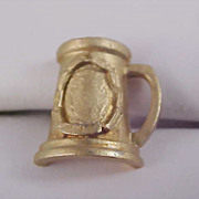 SALE BEER STEIN Gold Plate Men's Tie Tac - Circa 1950