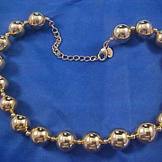 REDUCED REDUCED~KENNETH JAY LANE Gold Plate Large Bead Necklace/Choker