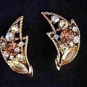 SALE FREE Ship ~ EMMONS Rhinestone Clip Earrings