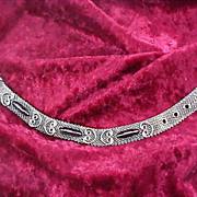 REDUCED Hematite Silver Plate Mesh BELT Bracelet