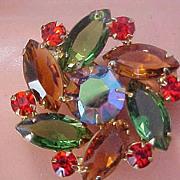 SALE Phenomenal DeLizza & Elster JULIANA Open Back Swarovski  Crystals Clip Earrings