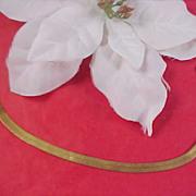 SALE Charming Gold tone MESH BRACELET Signed DM