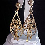 SALE Beautiful SHOULDER DUSTERS  - Open Workmanship Post Earrings