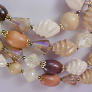 SALE FREE Ship~4 Strand West Germany 1940's Multi Stones Necklace