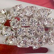 SALE ART DECO ~ Marquis & Round Cut Diamante  Brooch