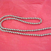 SALE Discounted ~ Fabulous Simulated  STRING of PEARLS  (Gray Pearls) Necklace