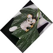 SOLD Charming Koala Bear~Diamante~Emerald~Red Rhinestone Brooch