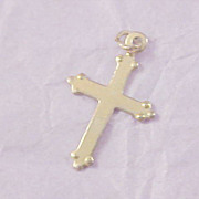 SALE REDUCED~ Gold Plate Cross Pendant