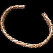 SALE COPPER & BRASS open Braided  Bangle ~ 25.5 Grams
