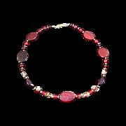 SALE CLOISONNE Round & Tubular~  Flat Ovals Lucite Necklace