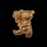 SALE GERRYS Gold Plate TEDDY Bear Gold Plate Figural Brooch