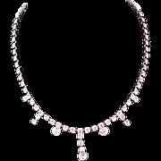 SALE Showstopper~ SWAROVSKI Crystal Drop Chaton KRAMER T/M Necklace