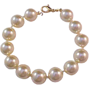 SALE -RUNWAY  Hand Knotted Massive Glass Pearl Bracelet -