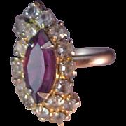 SALE Spectacular Amethyst Birthstone Silver Plate Ring