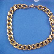 SALE FABULOUS Sale  -  Gold  Plate Link Charm Bracelet