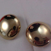 SALE BERGERE -  Gold Plated Massive Button Clip Earrings