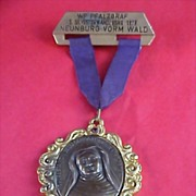 SALE Theresa Avon - German Award  Medal Crafted in Bronze