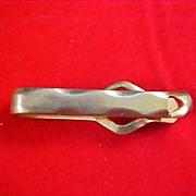 SALE $10 Sale ANSON Gilt Gold 1950's Tie Clasp
