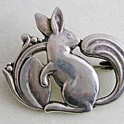 SOLD Vintage 830 Silver Denmark Eiler & Marloe Squirrel Brooch Pin