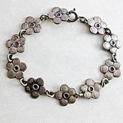Vintage 830 Silver Denmark Eiler & Marloe Flower Bracelet Child's