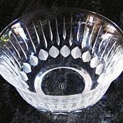 Vintage Cartier La Maison du Shogun Leaded Glass Footed Candy Bowl Dish