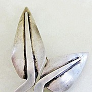 Vintage Sterling Silver Swedish Brooch Birger Haglund Studio Modernist