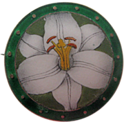 Antique Sterling Enamel Norway David-Andersen Lily Pin Bermuda
