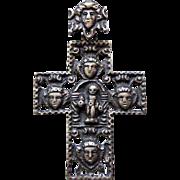 Vintage Norway/Denmark Scandinavian Heavy 830 Silver Cross Crucifix Pendant