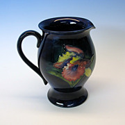 William Moorcroft pottery cobalt blue Iris pitcher