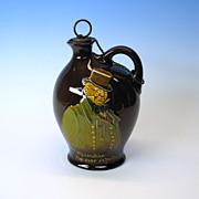 Royal Doulton Kingsware Dickens flask Mr. Micawber