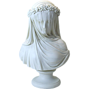 SALE Iconic R Monti 1861 Copeland Parian bust THE BRIDE