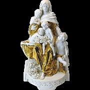 Austrian Arts & Crafts gilded porcelain figure Lady & children