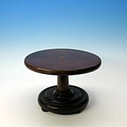 Victorian miniature mahogany dolls center table