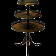 Dolls or Salesman's sample miniature Dumbwaiter table