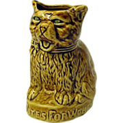 Vintage VOTES FOR WOMEN cat advertising figure yellow