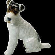 Vintage Rosenthal porcelain figure of a seated Terrier dog