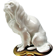 Unusual Rosenthal cabinet figure Cavalier Spaniel Dog