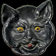 Barstow Stove Co. enameled cast iron Black cat dish tray