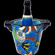LONGWY pottery novelty champagne bucket & bottle