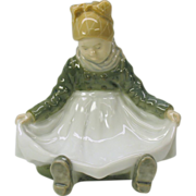 Vintage Royal Copenhagen figure of a seated girl