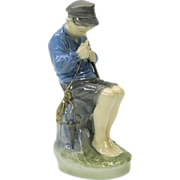 Vintage Royal Copenhagen figure of Boy fishing